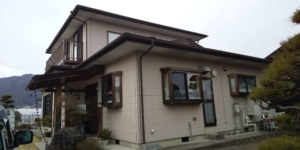 (長野県諏訪市)屋根塗装・外壁塗装施工前